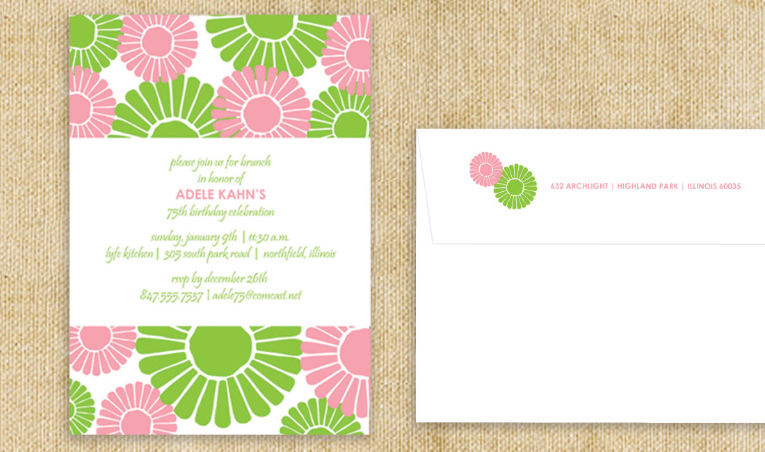 Flower Bloom Shower Invitation