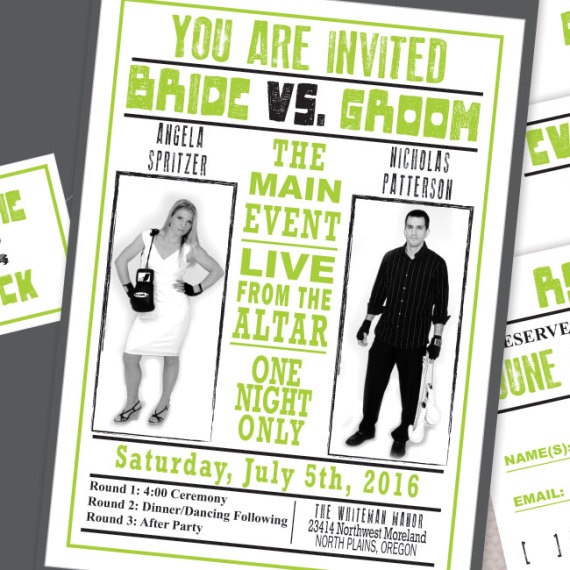Boxing Theme Wedding Invitation Detail