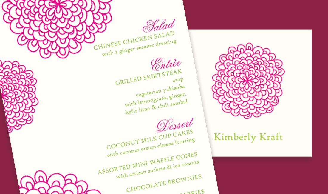 Floral Splash Shower Invitations Detail
