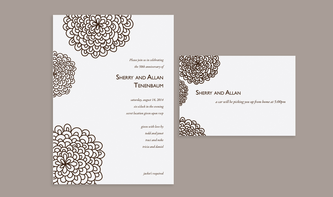 Floral Splash Wedding Invitation