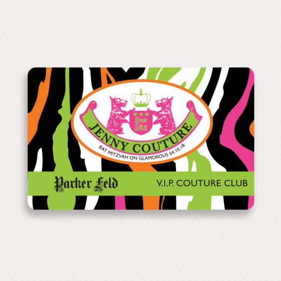 Juicy Stripes Bat Mitzvah Placecard