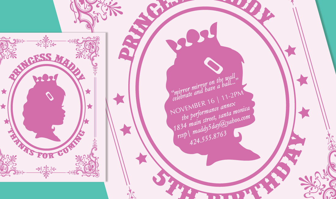 Princess Birthday Invitation Detail