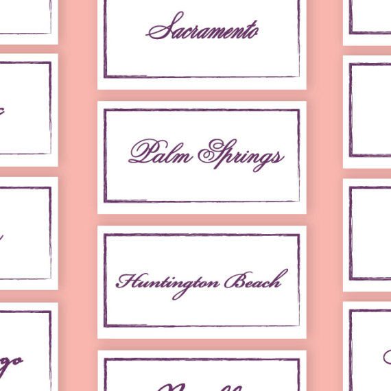 City Theme Table Cards Detail