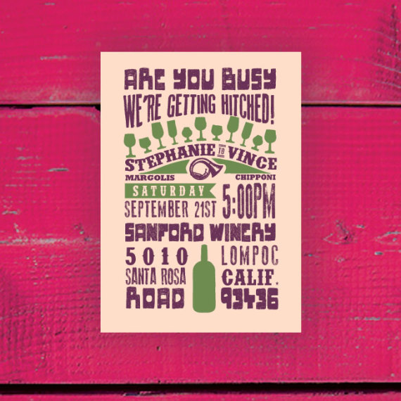 Retro Poster Wedding Invitation