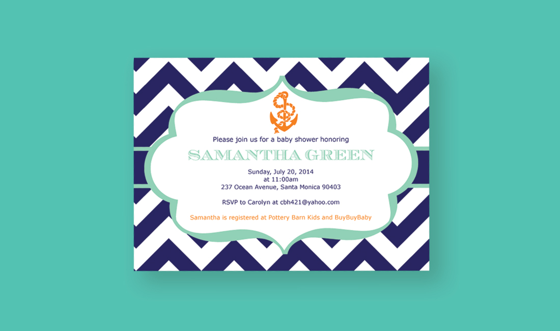 Anchor Shower Invitation #2