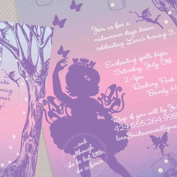 Fairytale Birthday Invitation Detail