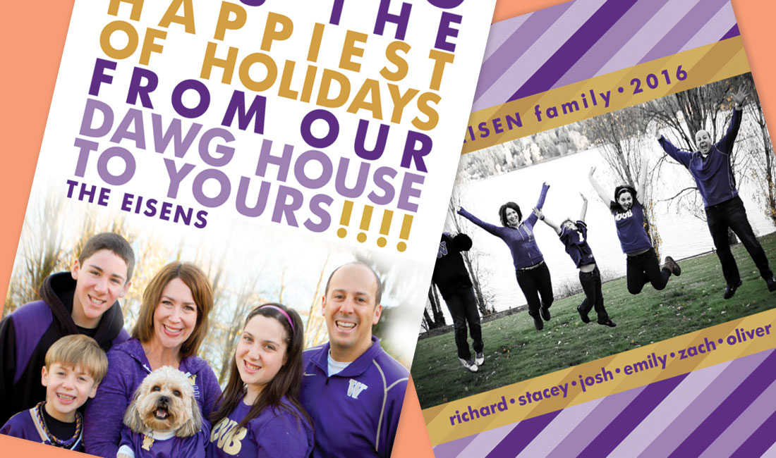 Holiday Photo Card Team Spirit Detail