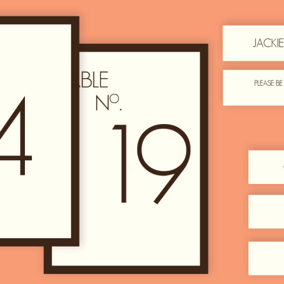 Deco Style Table Number Cards