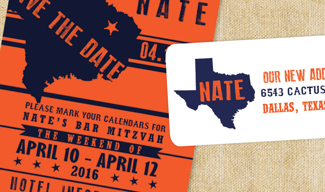 Texas Style Save the Date Detail