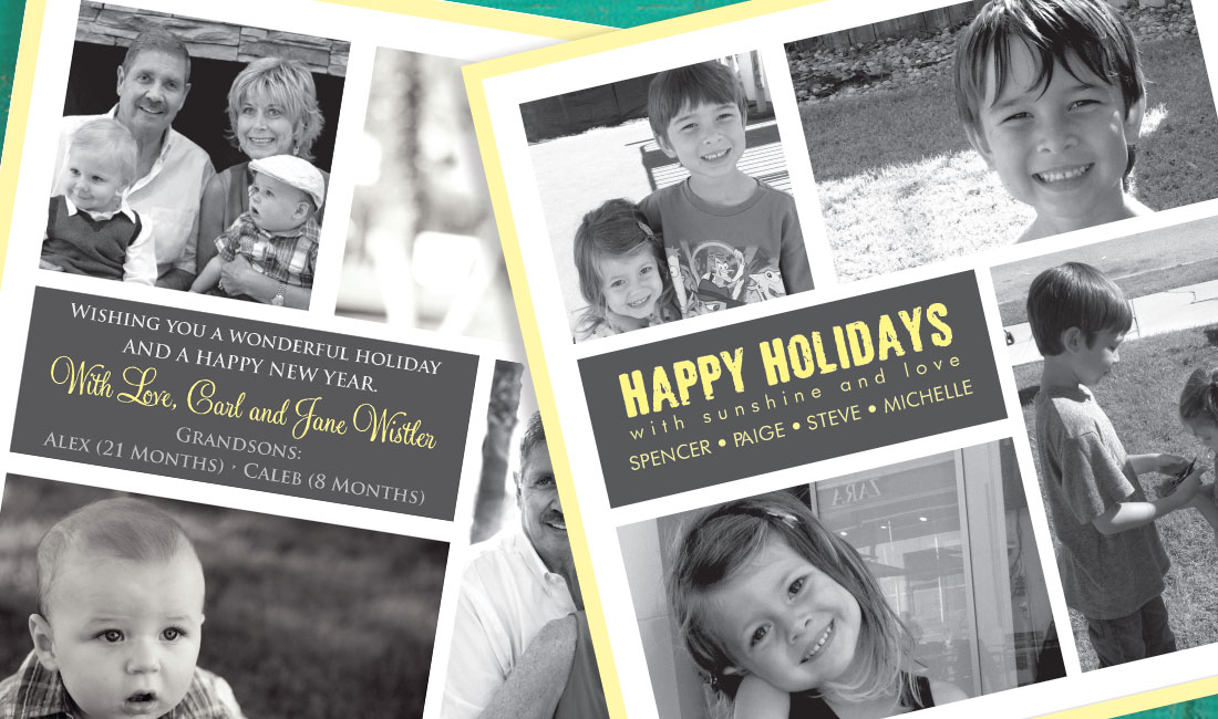 Holiday Photo Sunshine Card Option