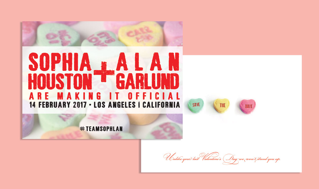 Candy Hearts Save the Date