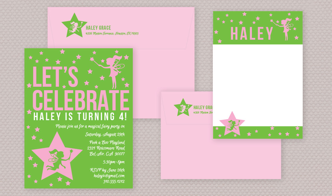 Fairy Princess Birthday Theme Invitaiton