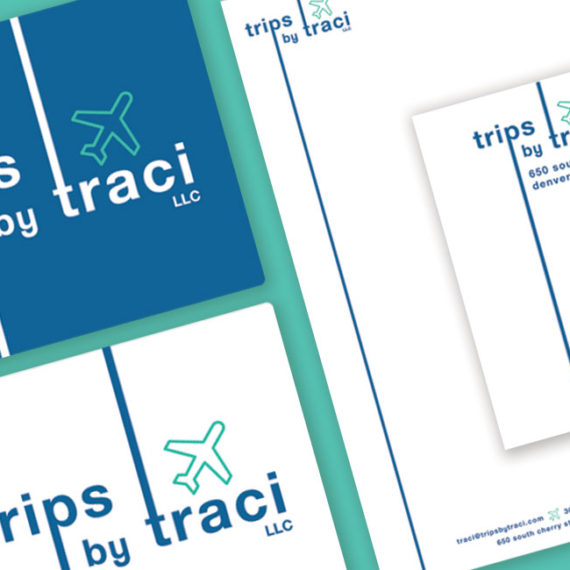 Trips by Traci logo design