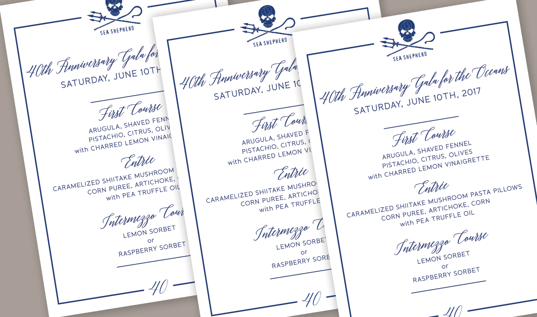 Sea Shepherd Menu