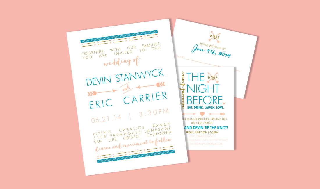 Arrows Wedding Invitation Set