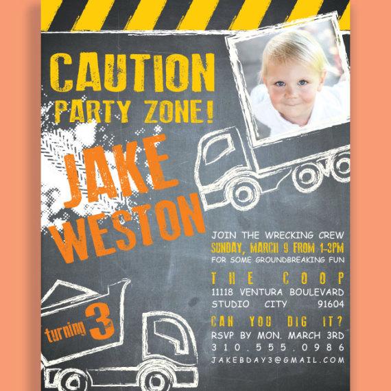 Kids Construction Invitation Detail