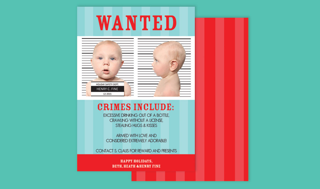 Most Wanted Holiday Photo Card