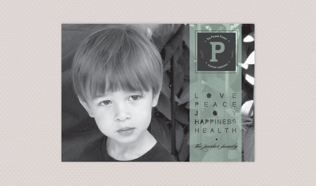 Color Stripe Photo Card