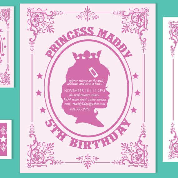 Princess Birthday Invitation Set