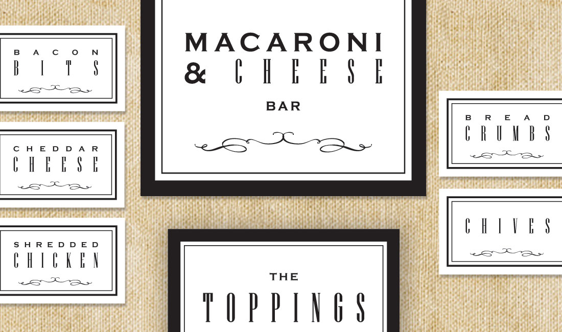 Toppings Signage Set