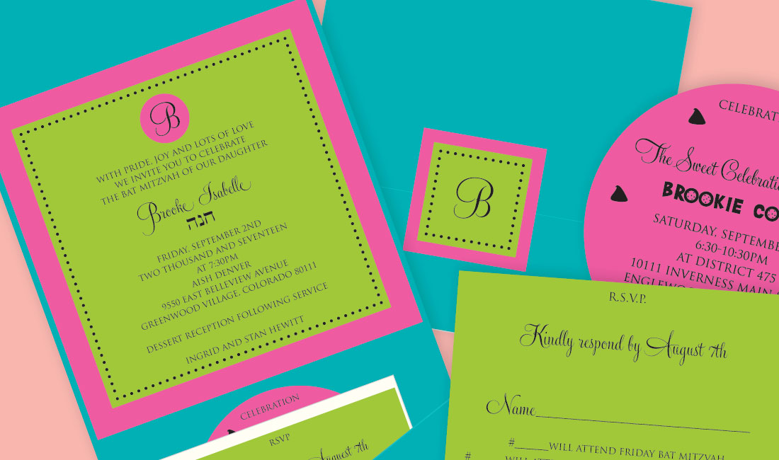 Circle Monogram Pocket Bat Mitzvah Deatil
