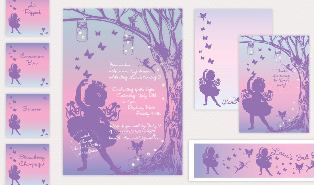 Fairytale Birthday Invitation Set
