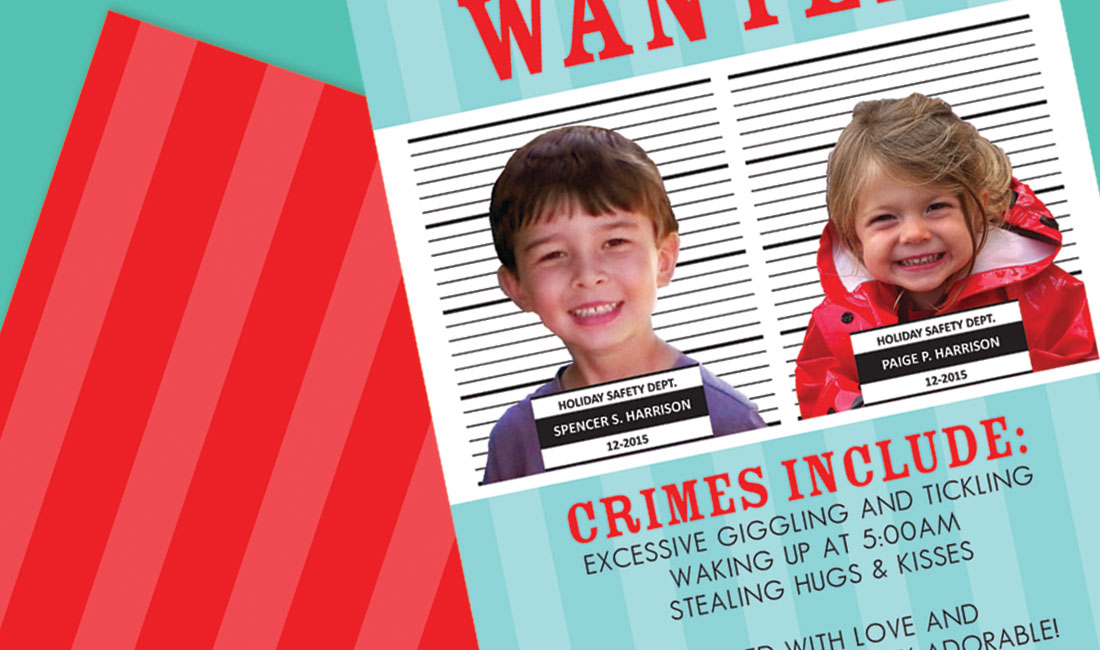 Holiday Photo Cards Arrest Theme Detail