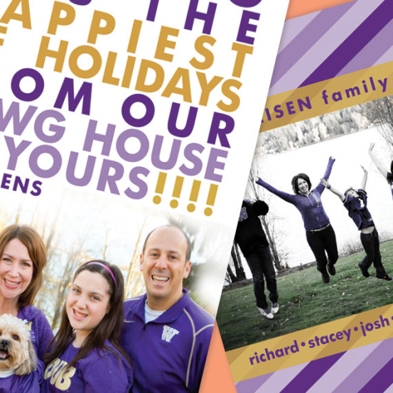 Holiday Photo Card Team Spirit Detail