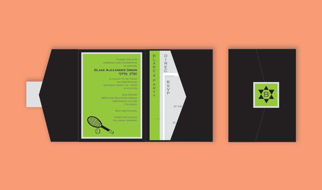 Tennis Pocket Bar Mitzvah Set