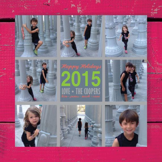 Holiday 9 Photo Grid Card