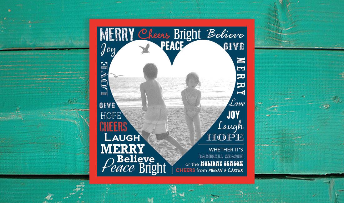 Holiday Photo Heart