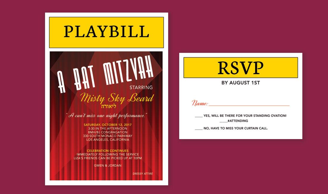 Broadway Theme Bat Mitzvah