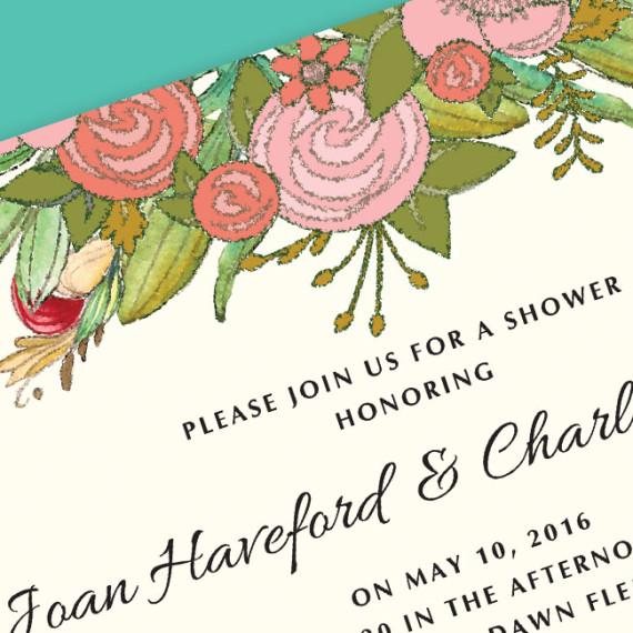 Top Floral Shower detail
