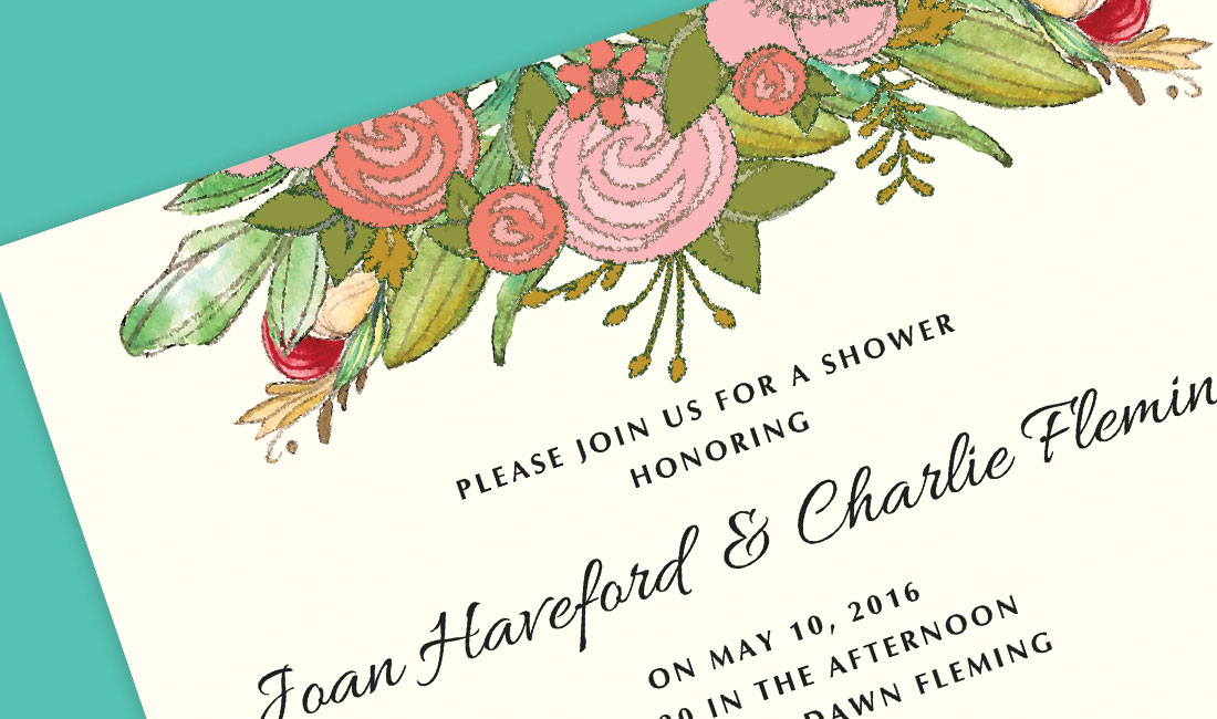 Top Floral Shower detail