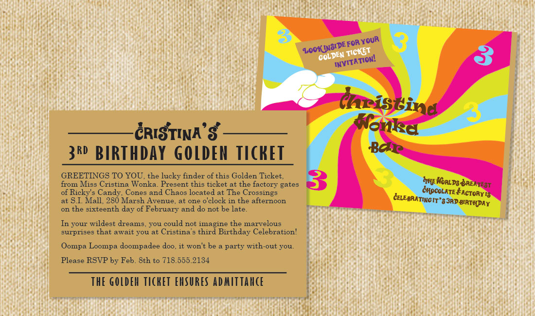 Bumpercards | Candy Bar Wrappers | Golden Ticket Theme