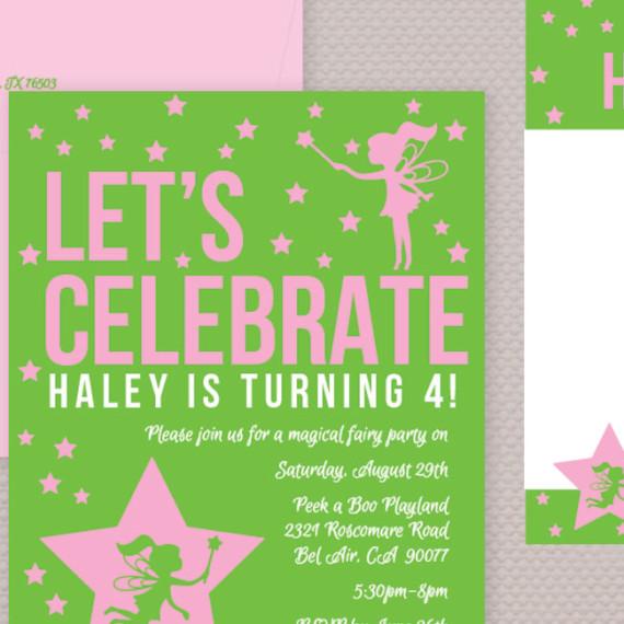 Fairy Princess Birthday Theme Detail