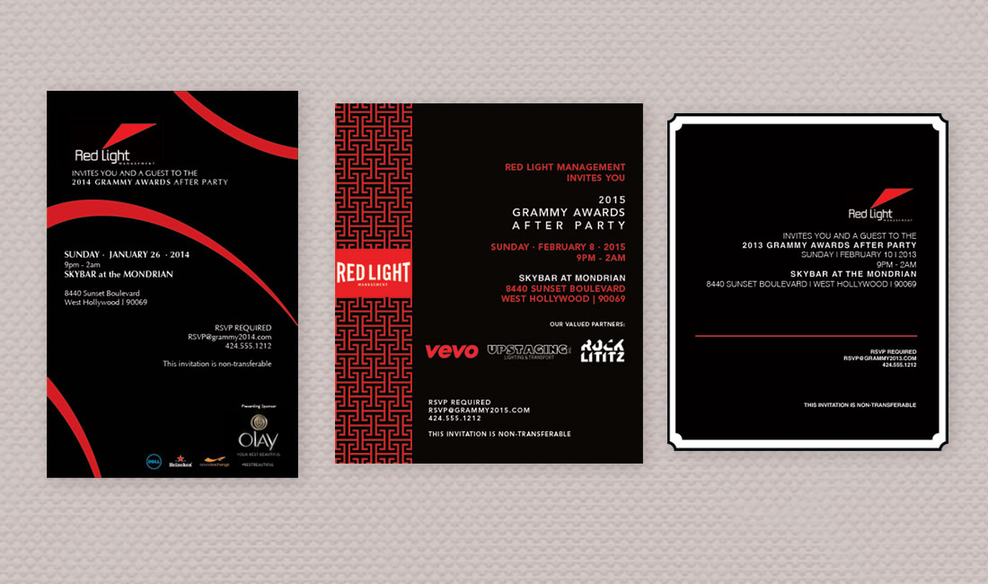 RedLight Grammy Party Invite