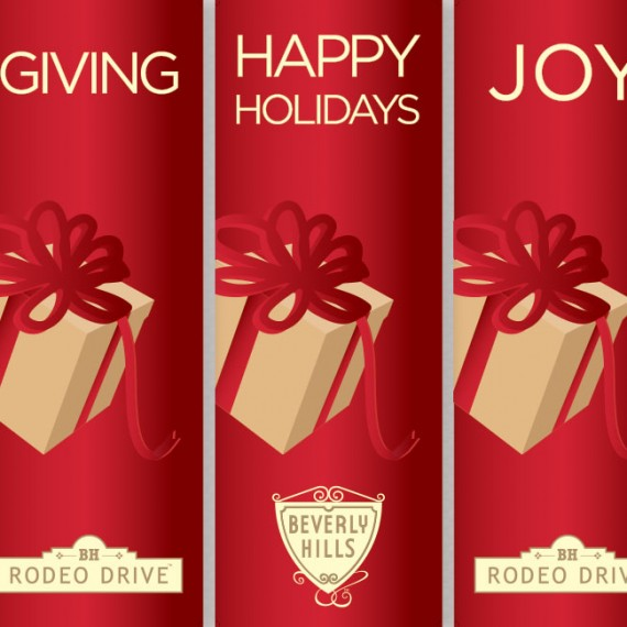 Rodeo Drive Tree Ceremony Single Banners