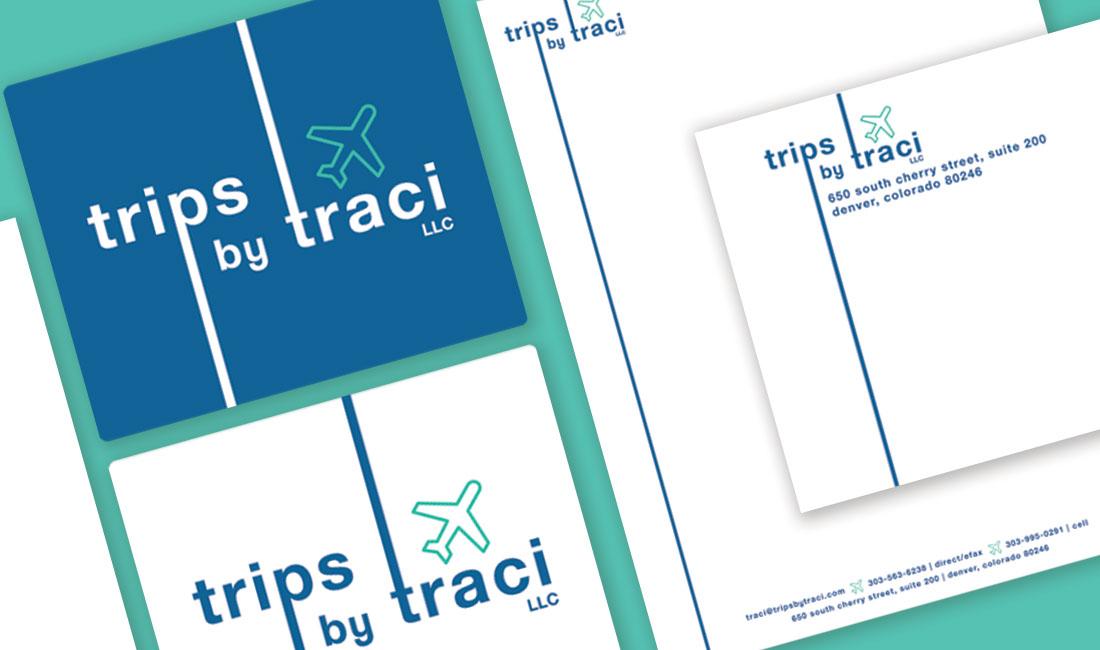 Trips by Traci logo design